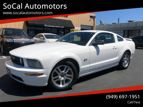 2006 Ford Mustang for sale at SoCal Automotors in Costa Mesa CA
