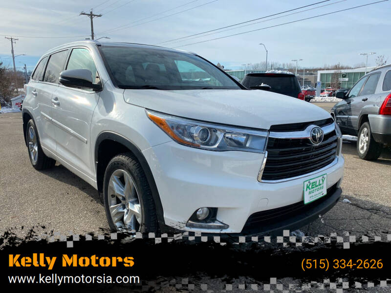 2014 Toyota Highlander for sale at Kelly Motors in Johnston IA