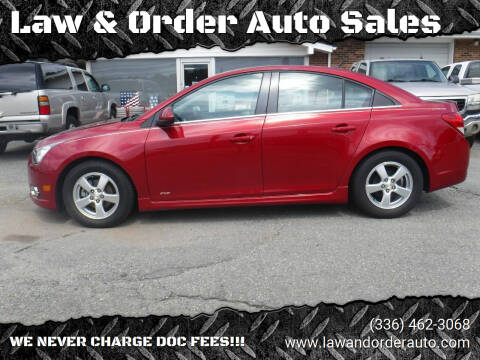 2012 Chevrolet Cruze for sale at Law & Order Auto Sales in Pilot Mountain NC