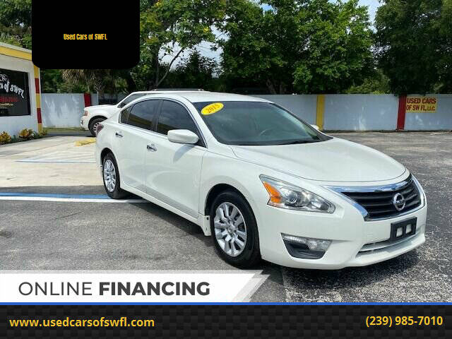 2015 Nissan Altima for sale at Used Cars of SWFL in Fort Myers FL