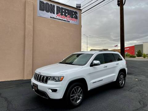 2017 Jeep Grand Cherokee for sale at Don Reeves Auto Center in Farmington NM