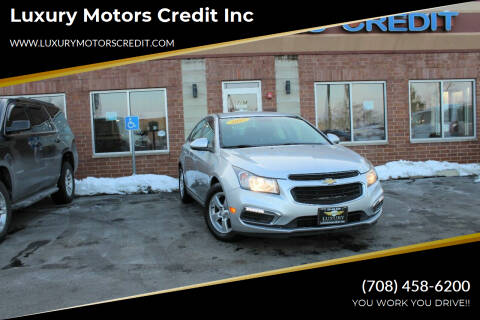 2015 Chevrolet Cruze for sale at Luxury Motors Credit Inc in Bridgeview IL