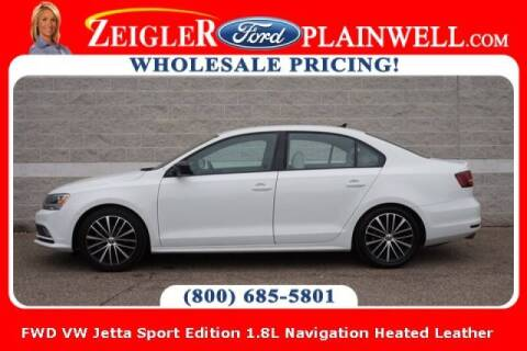 2016 Volkswagen Jetta for sale at Zeigler Ford of Plainwell- michael davis in Plainwell MI