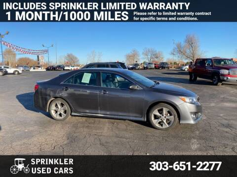 2014 Toyota Camry for sale at Sprinkler Used Cars in Longmont CO