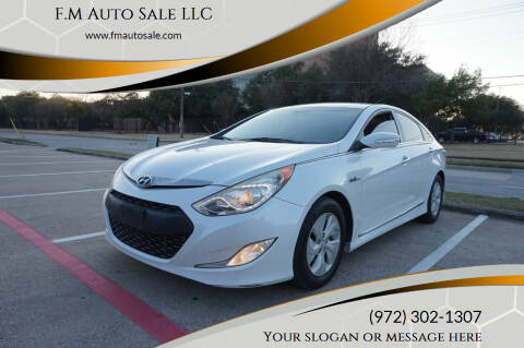 2013 Hyundai Sonata Hybrid for sale at F.M Auto Sale LLC in Dallas TX