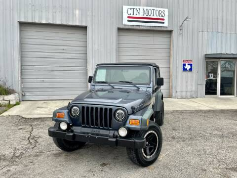 2002 Jeep Wrangler for sale at CTN MOTORS in Houston TX