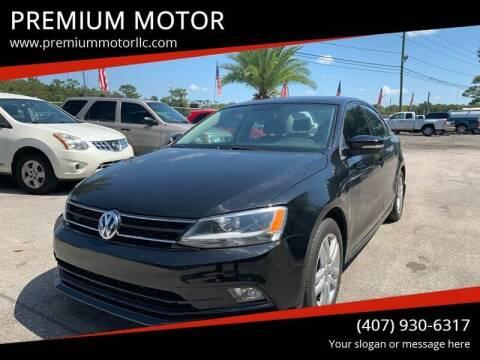 2015 Volkswagen Jetta for sale at PREMIUM MOTOR in Orlando FL