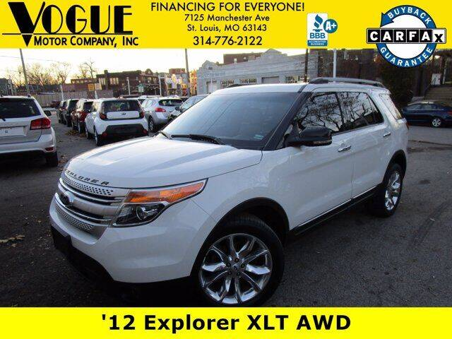 2012 Ford Explorer for sale at Vogue Motor Company Inc in Saint Louis MO