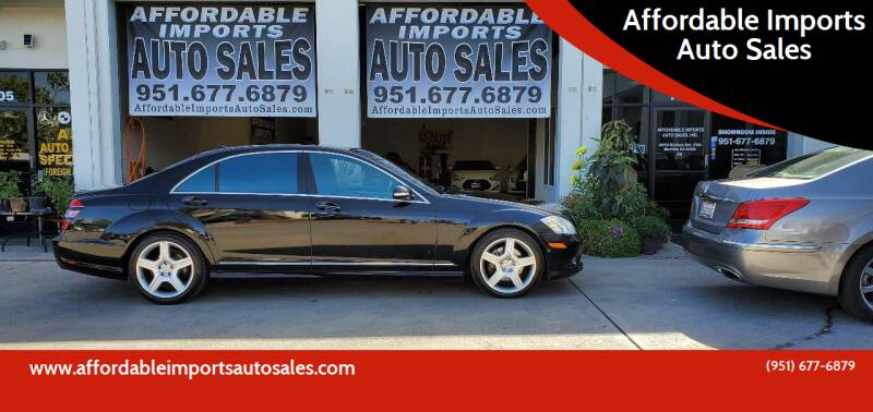 2009 Mercedes-Benz S-Class for sale at Affordable Imports Auto Sales in Murrieta CA