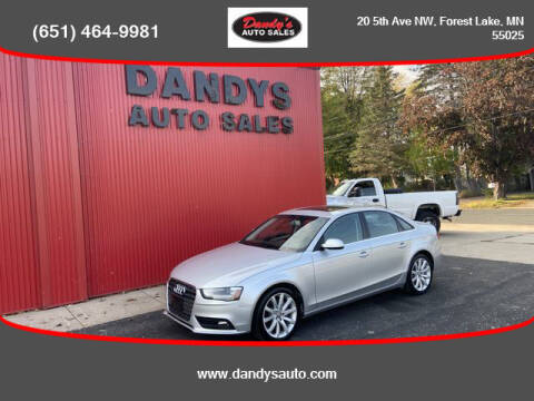 2013 Audi A4 for sale at Dandy's Auto Sales in Forest Lake MN