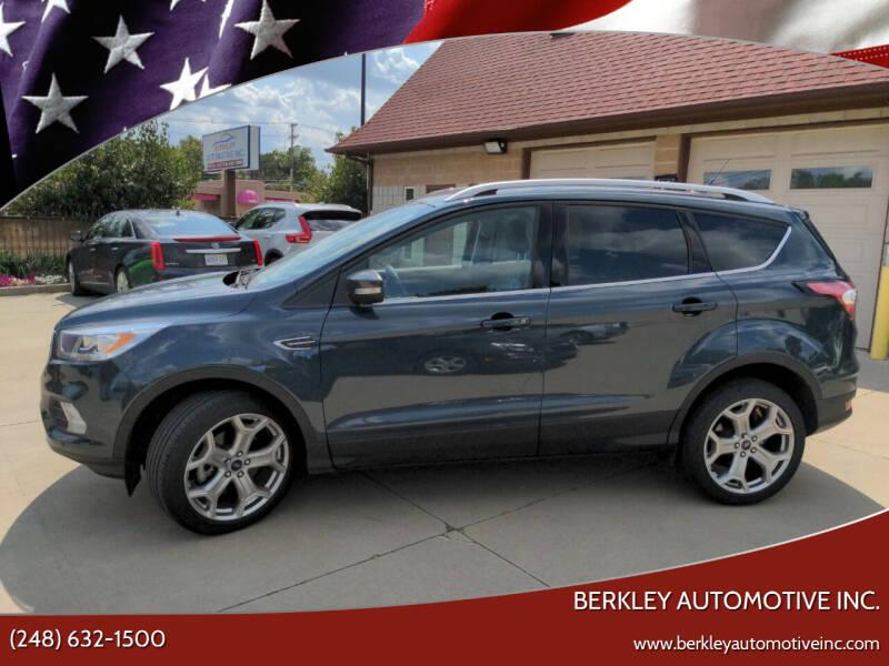2019 Ford Escape for sale at Berkley Automotive Inc. in Berkley MI