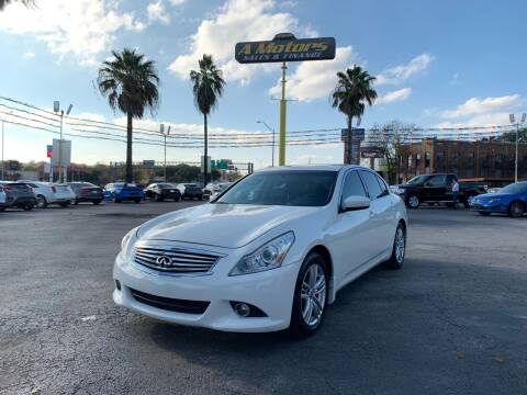 2013 Infiniti G37 Sedan for sale at A MOTORS SALES AND FINANCE in San Antonio TX