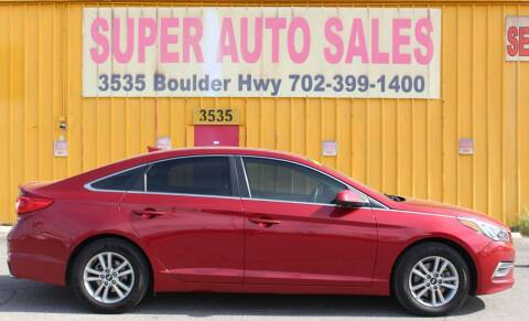 2015 Hyundai Sonata for sale at Super Auto Sales in Las Vegas NV
