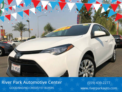 2017 Toyota Corolla for sale at River Park Automotive Center in Fresno CA