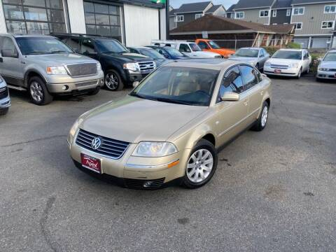 2002 Volkswagen Passat for sale at Apex Motors Parkland in Tacoma WA