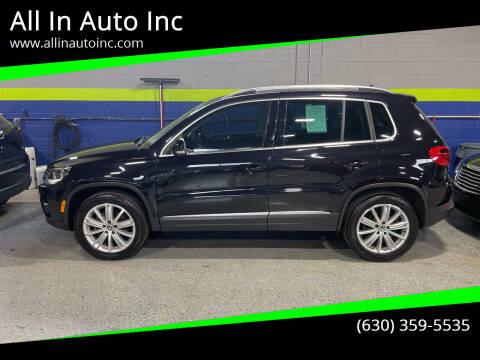 2012 Volkswagen Tiguan for sale at All In Auto Inc in Addison IL
