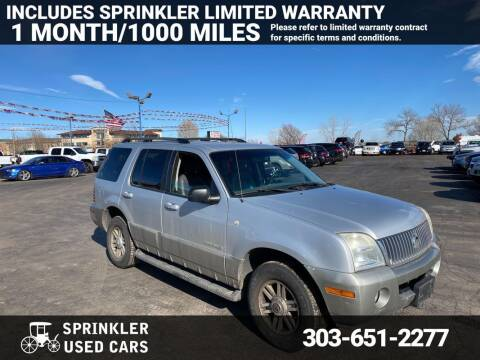 2002 Mercury Mountaineer for sale at Sprinkler Used Cars in Longmont CO