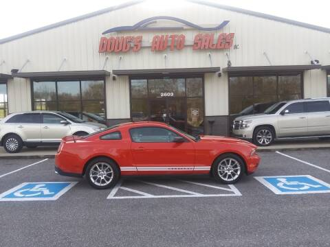 2010 Ford Mustang for sale at DOUG'S AUTO SALES INC in Pleasant View TN