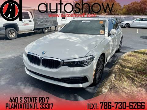 2017 BMW 5 Series for sale at AUTOSHOW SALES & SERVICE in Plantation FL