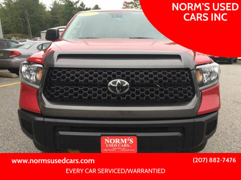 2019 Toyota Tundra for sale at NORM'S USED CARS INC in Wiscasset ME