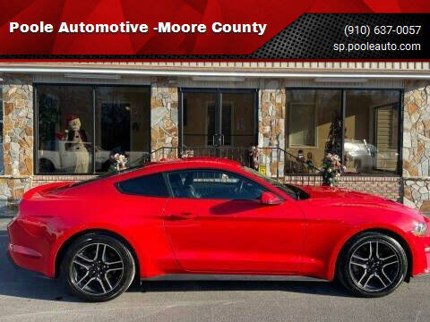2019 Ford Mustang for sale at Poole Automotive -Moore County in Aberdeen NC