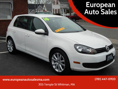 2010 Volkswagen Golf for sale at European Auto Sales in Whitman MA