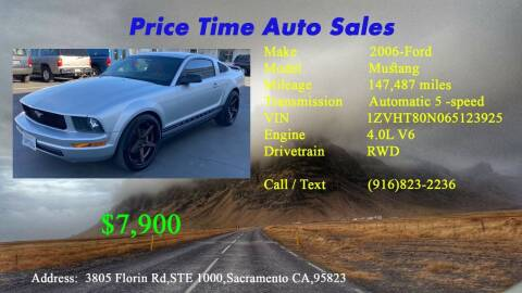 2006 Ford Mustang for sale at PRICE TIME AUTO SALES in Sacramento CA