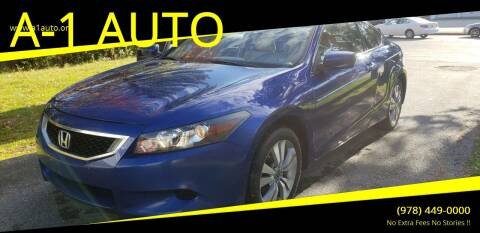 2009 Honda Accord for sale at A-1 Auto in Pepperell MA