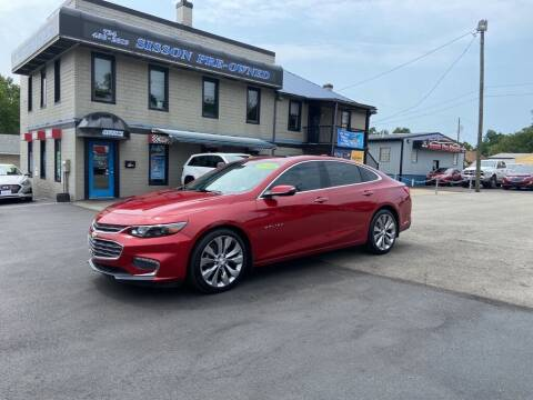 2016 Chevrolet Malibu for sale at Sisson Pre-Owned in Uniontown PA