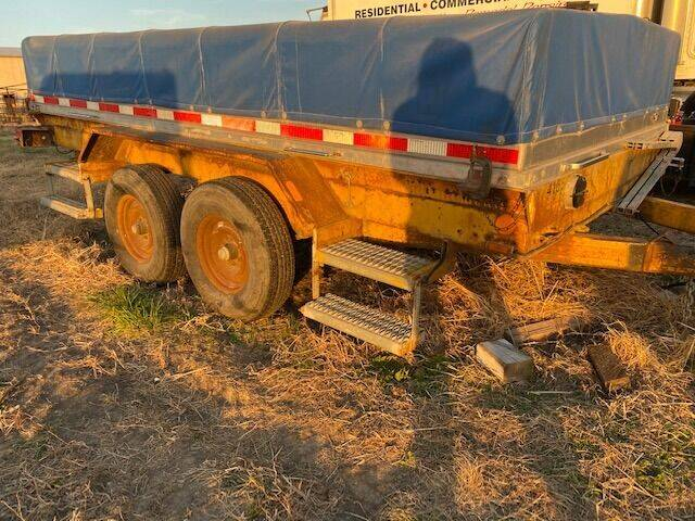 2000 Covered Flatbed Metal floor Covered Trailer  for sale at The Ranch Auto Sales in Kansas City MO