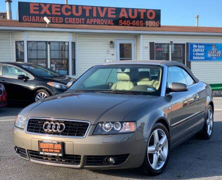 2003 Audi A4 for sale at Executive Auto in Winchester VA