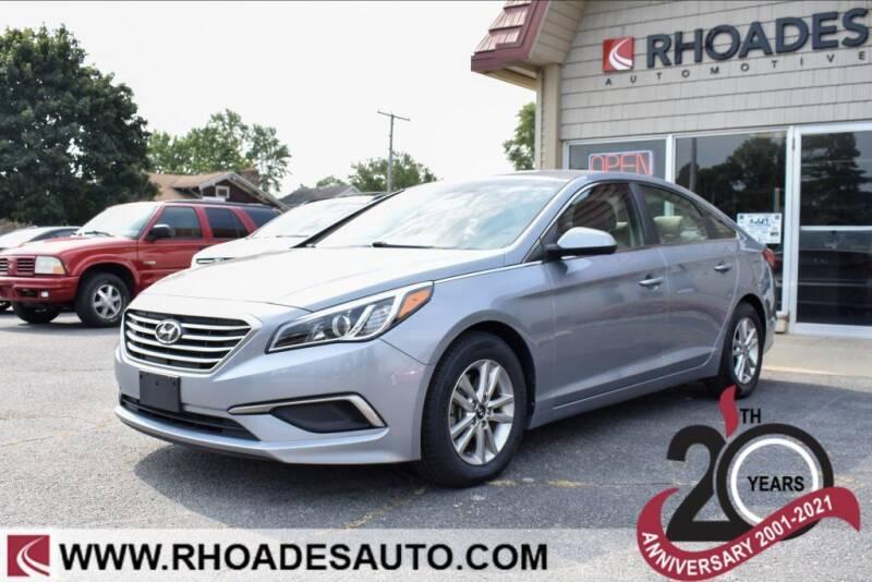 2016 Hyundai Sonata for sale at Rhoades Automotive Inc. in Columbia City IN