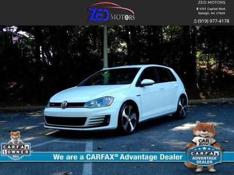 2016 Volkswagen Golf GTI for sale at Zed Motors in Raleigh NC