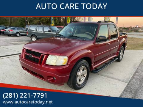 2004 Ford Explorer Sport Trac for sale at AUTO CARE TODAY in Spring TX