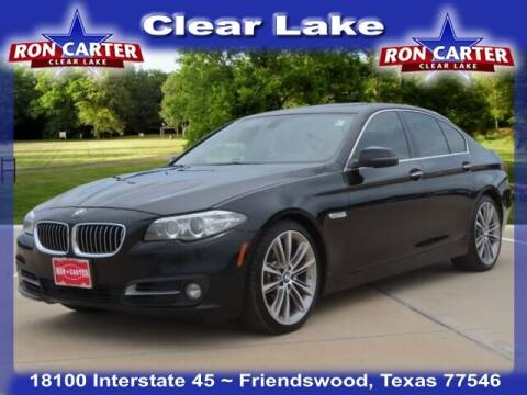 2016 BMW 5 Series for sale at Ron Carter  Clear Lake Used Cars in Houston TX