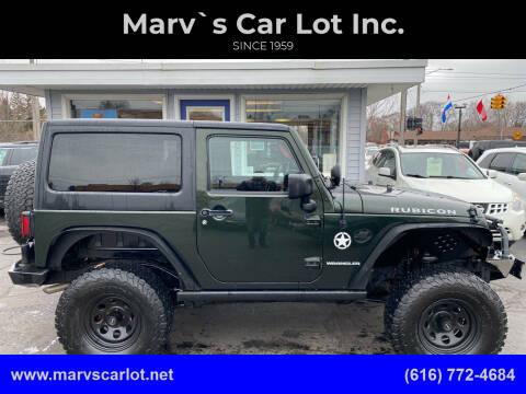 2011 Jeep Wrangler for sale at Marv`s Car Lot Inc. in Zeeland MI