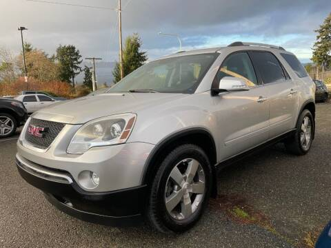 2012 GMC Acadia for sale at KARMA AUTO SALES in Federal Way WA