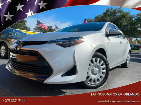 2017 Toyota Corolla for sale at LATINOS MOTOR OF ORLANDO in Orlando FL