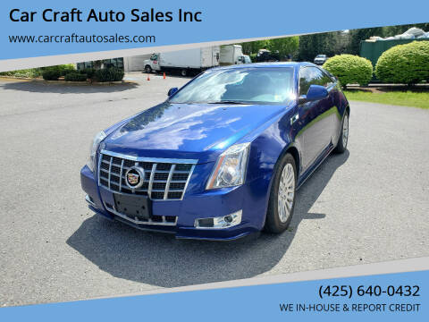 2012 Cadillac CTS for sale at Car Craft Auto Sales Inc in Lynnwood WA