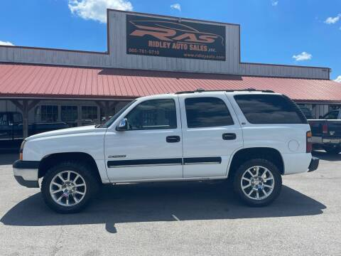2000 Chevrolet Tahoe for sale at Ridley Auto Sales, Inc. in White Pine TN