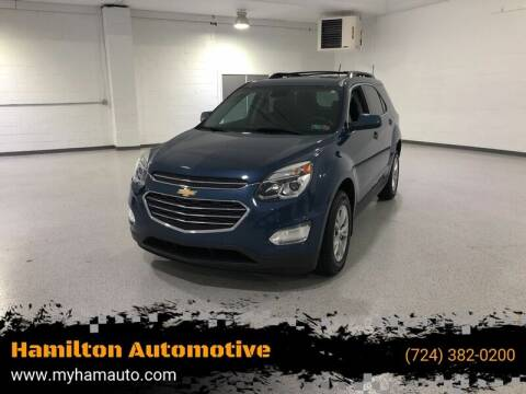 2016 Chevrolet Equinox for sale at Hamilton Automotive in North Huntingdon PA
