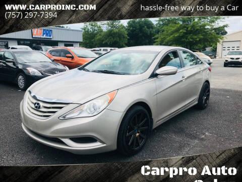 2011 Hyundai Sonata for sale at Carpro Auto Sales in Chesapeake VA