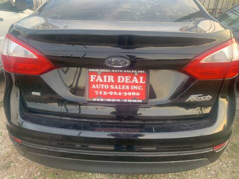 2016 Ford Fiesta for sale at FAIR DEAL AUTO SALES INC in Houston TX