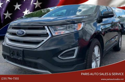 2015 Ford Edge for sale at Paris Auto Sales & Service in Big Rapids MI