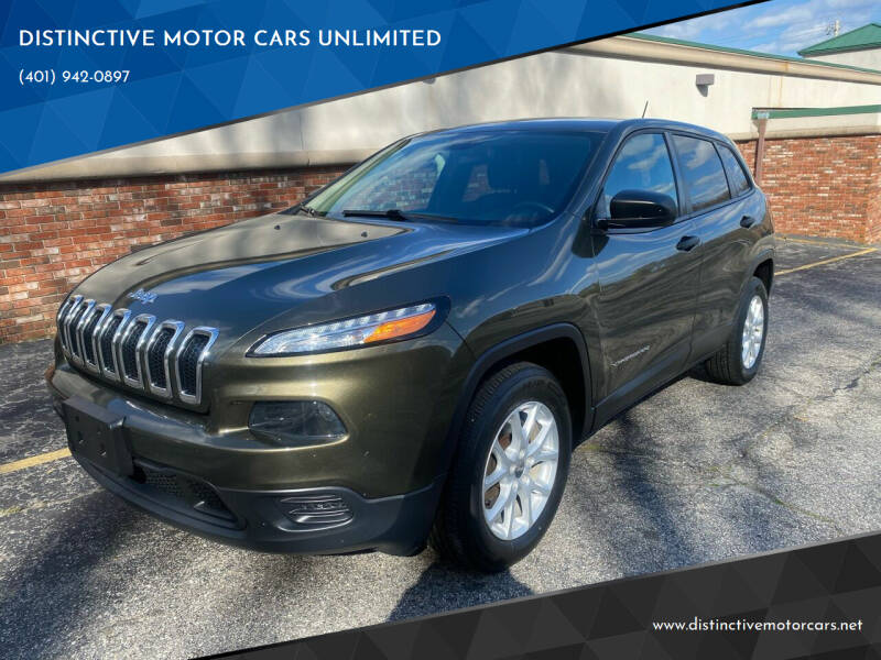 2014 Jeep Cherokee for sale at DISTINCTIVE MOTOR CARS UNLIMITED in Johnston RI
