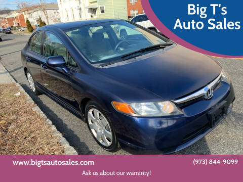 2007 Honda Civic for sale at Big T's Auto Sales in Belleville NJ