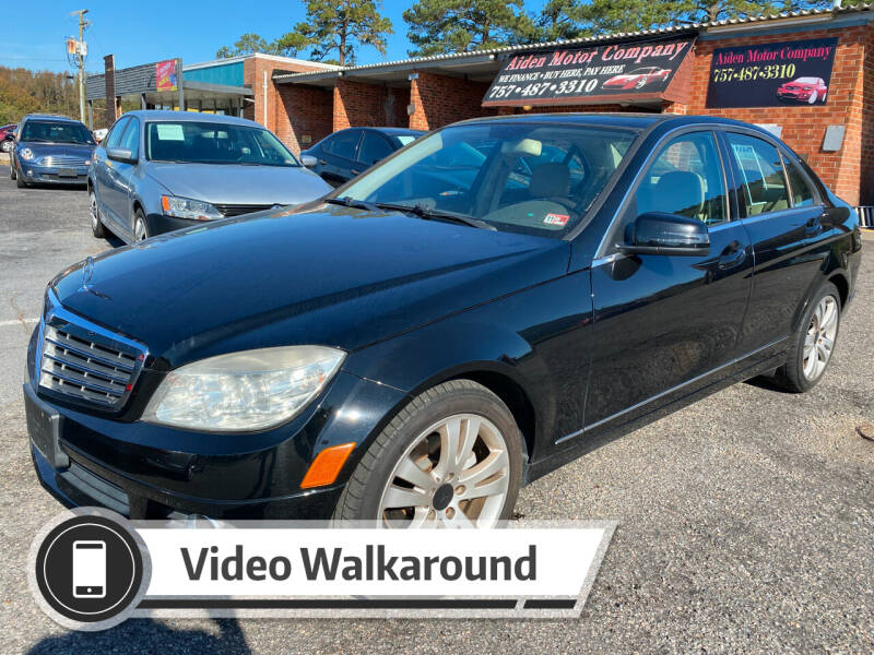 2010 Mercedes-Benz C-Class for sale at Aiden Motor Company in Portsmouth VA