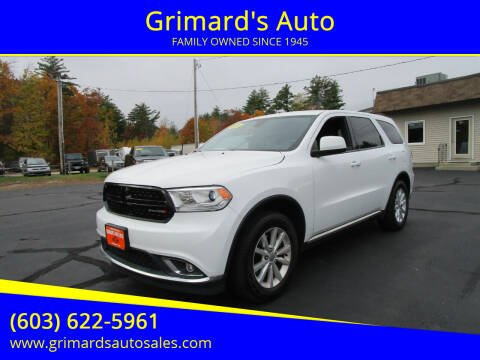 2014 Dodge Durango for sale at Grimard's Auto in Hooksett NH