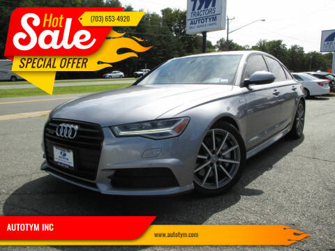 2016 Audi A6 for sale at AUTOTYM INC in Fredericksburg VA