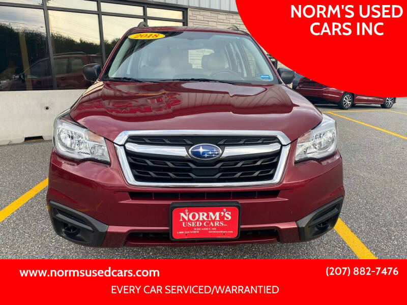 2018 Subaru Forester for sale at NORM'S USED CARS INC in Wiscasset ME